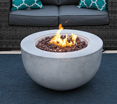 Amphora Gas Fire Pit Table with Concrete Top