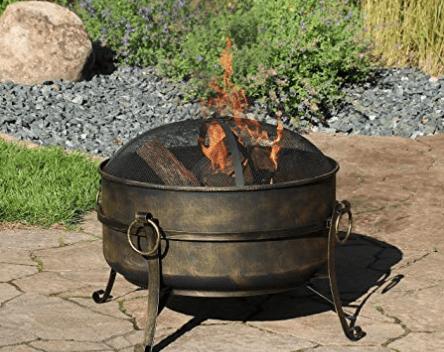 Sunnydaze Cauldron Outdoor 24 Inch Fire Pit Bowl Replacement
