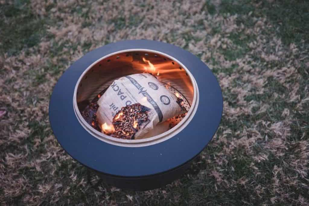 tiki brand 25 inch stainless steel low smoke fire pit